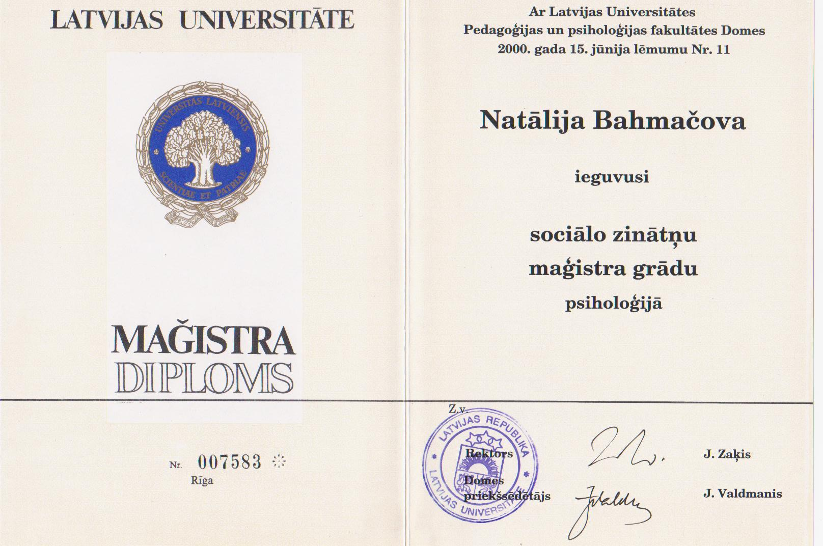 magistra-diploms